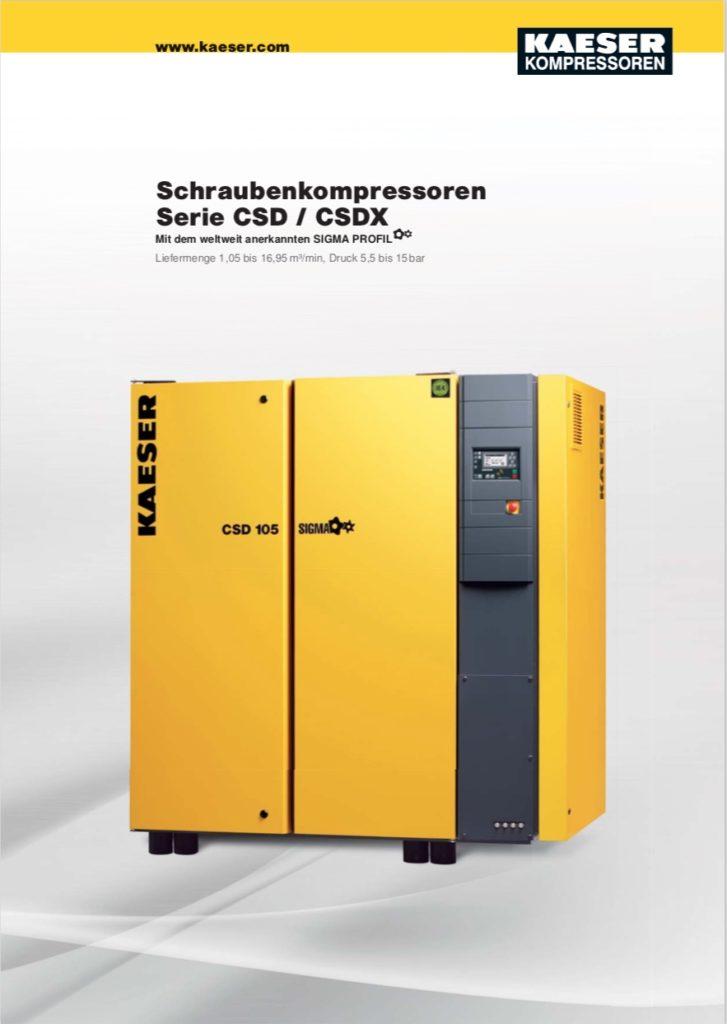 KAESER Schraubenkompressor Serie CSD /CSDX