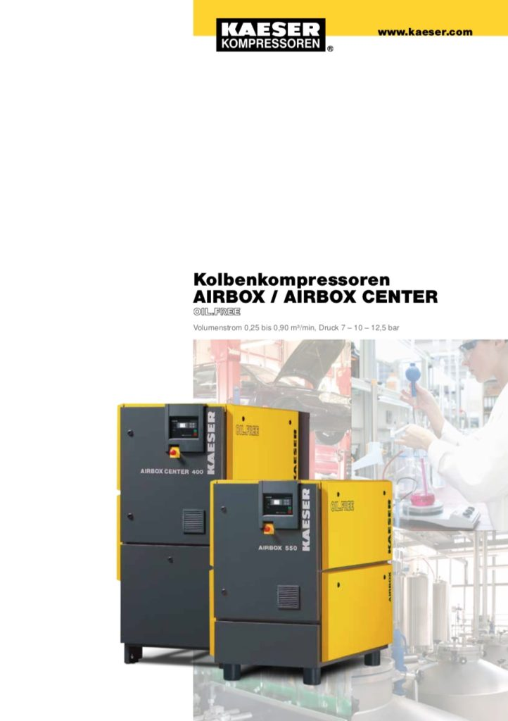 KAESER Kolbenkompressor Airbox-Center 2017