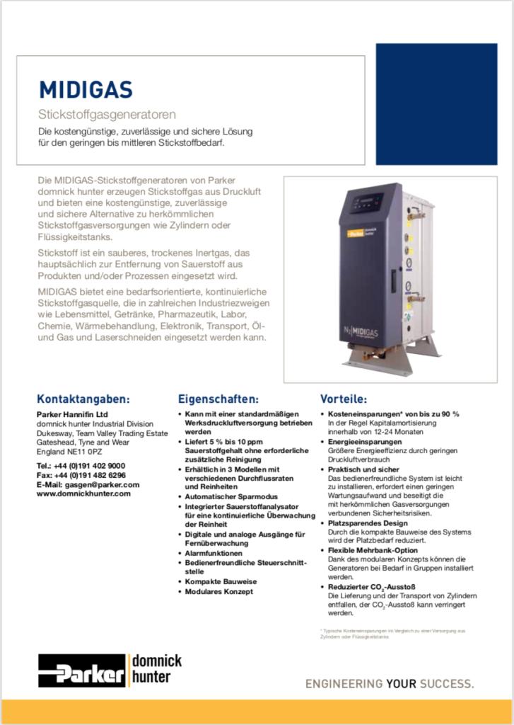 MIDIGAS Stickstoffgenerator